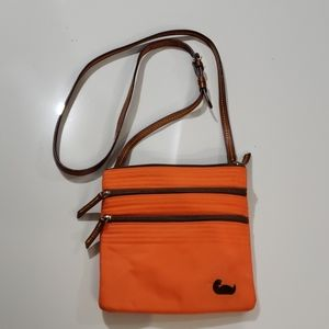 Dooney & Bourke Orange Sateen Crossbody Purse